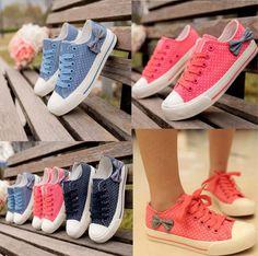 Comfortable Round Toe Bowtie Little Spots Sneaker