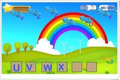 Ayuda a los pajaritos a ordenar el abecedario de aprenderjugando.cl (No funciona en CHROME)
