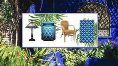 Le bleu Majorelle Outdoor Furniture Sets, Outdoor Decor, Planter Pots, Frame, Design, Home Decor, Gardens, Blue, Morocco
