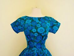 ON SALE vintage 1950's Tommy Care spring in bloom blue by dLeChe, $112.50