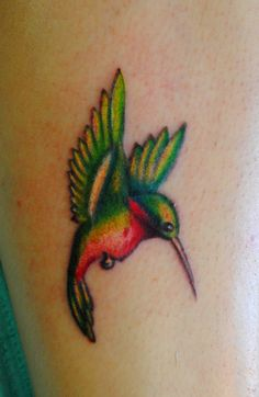 hummingbird tattoos | This little hummingbird was done on my friend's sister