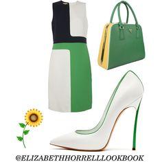 LIZ by elizabethhorrell on Polyvore featuring polyvore fashion style Michael Kors Casadei Prada