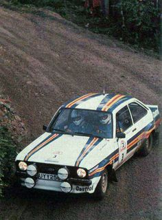 Ari Vatanen in his Ford Escort Ford Capri, Vintage Racing, Vintage Cars, Ford Motorsport, Ford Rs, Classic Race Cars, Old Fords, Ford Escort, Car Advertising