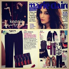 Kensie pants + ad spread, as featured in Marie Claire, December 2011