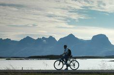 #Cycling along the scenic road #Kystriksveien. Photo: Olav Breen.  www.kystriksveien.no  #Helgeland #Northern Norway #Norway