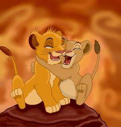 Simba & Nala again Adorable❤️
