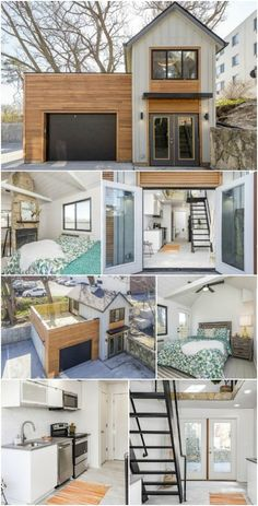 The Carriage House is a Unique Tiny Home from Zenith Design + Build The vast majority of tiny houses have the same basic layout. They are similar in size and shape to a large motorhome not a coincidence, considering motorhomes were the original tiny ho Tiny House Cabin, Tiny House Living, Tiny House Plans, Tiny House Design, Two Bedroom Tiny House, Small House Layout, Building A Tiny House, Tiny House With Loft, Tiny Home Floor Plans