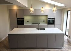 We Recently Completed This Schuller German Kitchen Project For Our  Customers In Cheadle, Greater Manchester Using A Mix Of Sand Grey And  Truffle Brown ...