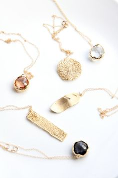 Long Necklaces by Dear Mushka. Layer Necklaces. Layering. Handmade jewelry. Etsy.