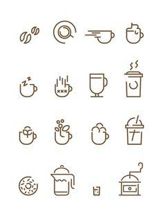 Coffee Icons Francesco Lucchiari in Icons, Symbols & Pictograms