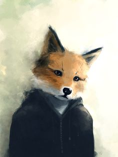 A fox - just a tiny bit sad