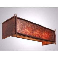 Steel Partners Sticks 4 Light Vanity Wall Sconce Shade Color: Amber Mica, Finish: Architectural Bronze
