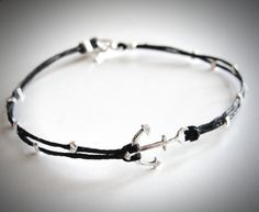 Tiny Sterling Anchor bracelet