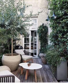"Ashley Stark Kenner on Instagram: ""Looking for outdoor inspo. Loving this at @hotelparticuliermontmartre • • • • • #elledecor #adstyle #interiordesign #architecture…"""