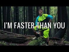 """""""I'm Faster Than You"""" Video. Downhill Mountain Bike Logic - Hilarious video and epically catchy song! We quote this ALL the time now!"""