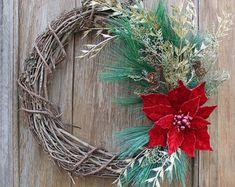 Guirnalda de la Navidad guirnalda de invierno vid por LynnHDesigns