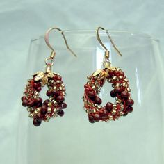 Autumn Bead Crochet Earrings Marigolds by @LanmomOriginals #Group2020