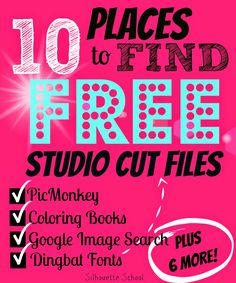 10 Places to Find FREE Silhouette Cut Files - Silhouette School