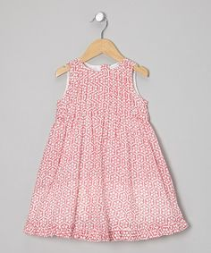 Take a look at this Pink Beehive Pin Tuck Dress - Infant, Toddler & Girls by Little Handprint on #zulily today!