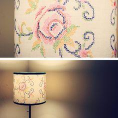 DIY: lamp shade makeover