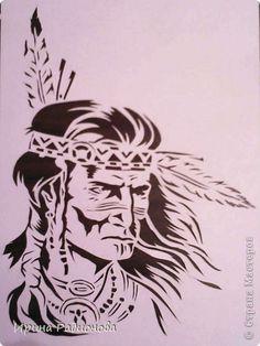 Вырезание индеец Бумага