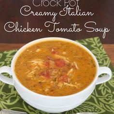 Creamy Italian Chicken Tomato Soup