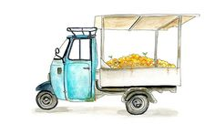 Piaggio Ape Commercial Truck from Sicily, Italy.