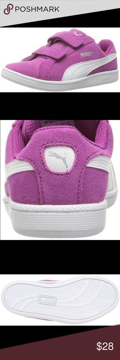 PUMA Smash FUN SD V Kids Sneaker Suede Rubber sole Non-marking rubber The PUMA smash sd will keep you looking sporty and fresh. With the PUMA form stripe, a soft full suede upper and the classic tennis look, this shoe is made for any style, any time Puma Shoes Sneakers