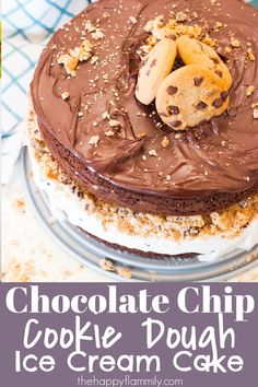 Chocolate chip cookie dough ice cream cake. Chocolate chip cookie dough cake. Chocolate chip cookie dough recipes. How to make an easy ice cream cake. Easy ice cream cake recipe. Birthday cake ideas. Easy birthday cake ideas. Ice cream cake from a cake mix. Easy cake recipes. Easy ice cream cake idea. #cake #icecream #birthday #summer #cookie #party #baking #familyfun Cookie Dough Cake, Cookie Dough Recipes, Chocolate Chip Cookie Dough, Easy Cake Recipes, Sweet Tooth, Birthday Cake, Ice Cream, Cookies, Baking