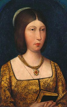 ca. 1489 Isabella I of Spain, Queen of Castille attributed to Antonio Inglés (UK Royal Collection)