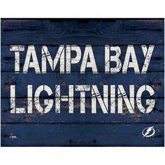 Tampa Bay Lightning 11'' x 14'' Rustic Option Wall Décor - Navy Blue