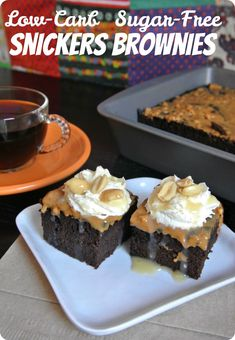 Almond flour brownies soaked in caramel sauce and topped with peanut butter? Yes please! This scrumptious dessert is low-carb, sugar-free, and THM-S.