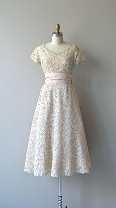 Sugar Kisses dress vintage 1950s dress lace 50s by DearGolden
