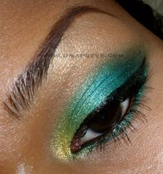 Umapreve green and gold for indian and arabic skin