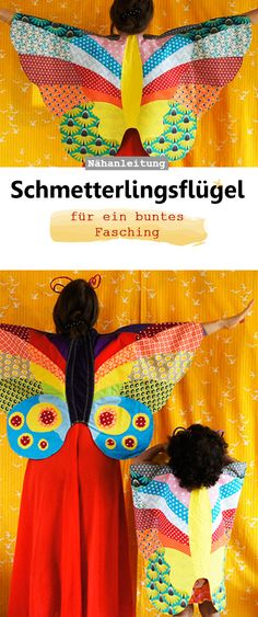 Kostüm Schmetterlings-Umhang Schmetterlingsflügel Schnittmuster und Nähanleitung Fasching