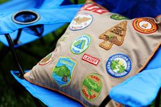 This is a really cool idea!  I would love to do this with Savannah's girl scout patches!  She was only in GS for 3 years.