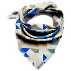 Claire Gaudion Fine Wool Scarf (57.515 HUF) ❤ liked on Polyvore featuring accessories, scarves, blue, wool shawl, woolen scarves, blue scarves, fringe shawl and wool scarves