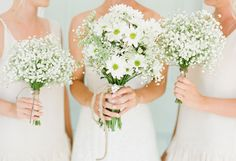Bridesmaids' bouquets? Bouquets White White dasies wildflowers rustic bouquets baby's breath