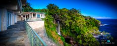 Water Falling Estate - 32-1056 Old Mamalahoa Hwy, Ninole, Hawaii - For Sale - $26,500,000: A four-storey oceanfront luxury home perched on a cliffside bluff with 8 acres, 5 bedrooms, 10 bathrooms, and 8,100 sq. ft. inside. This landmark estate features a concrete superstructure design built to last for generations while encapsulating the magical view of water falling transcendently down a natural three-tier waterfall from the cliff top to the ocean below. ➤ http://thepl.me/1fLUDhj