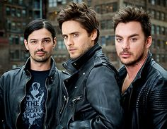 30 Seconds To Mars and band members ( Jared Leto, Shannon Leto, Tomo Milicevic) promotional support Jared Leto, Music Tv, Music Lyrics, Music Bands, Shannon Leto, Thirty Seconds, 30 Seconds, Requiem For A Dream, Famous Musicians