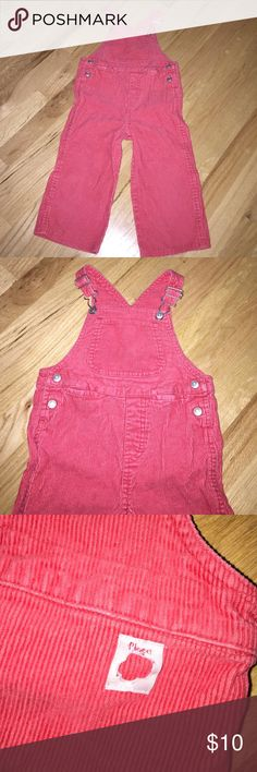 The children's place red corduroy overalls 3t Nice condition! Unisex. Flower (?) punch from tag in the back. Size 3t / 36 months Children's Place Bottoms