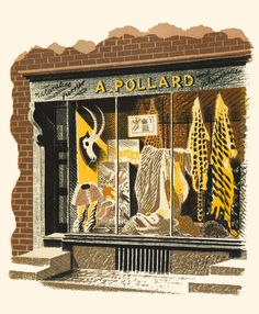 Eric Ravilious (1903-1942), Naturalist: Furrier: Plumassier, c.1938, Lithograph, £450 framed, Modern British Paintings and Prints - The Scottish Gallery, Edinburgh - Contemporary Art Since 1842