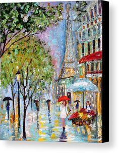 Original painting PARIS RAIN Cityscape Modern Texture oil impressionism by Karen Tarlton . would be cool to find one of these from a street artist Art Gallery, Art Painting, Art Appreciation, Cityscape, Umbrella Art, Paris Artwork, Art Pictures, Beautiful Art, Paris Art