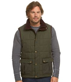 Bean's Upcountry Waxed-Cotton Down Vest