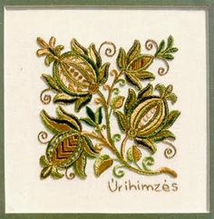 Hungarian Embroidery Patterns Noble Lady's Embroidery - Úrihímzés Could be nice in Crewel Bordado Jacobean, Crewel Embroidery Kits, Hungarian Embroidery, Learn Embroidery, Embroidery Patterns, Embroidery Supplies, Vintage Embroidery, Stitch Head, Seed Stitch