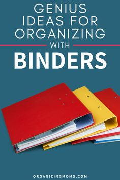 Binder Organization System for Important Papers. How to organize your paperwork with binders. A great way to have everything easily accessible. Set up your own binder organization system today. #Organizing #Paper #organizingmoms Organizing Paperwork, Binder Organization, Organizing Your Home, Organizing Tips, Home Filing System, Paper Clutter, Organized Mom, Organize Your Life, Declutter