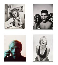 """Selecció d'imants de l'exposició """"Sorprèn-me. Les fotografies de Philippe Halsman""""."""