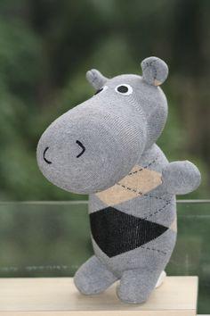 Handmade Large Hippo stuffed animal toys little girl gift sock doll stuffed animal dolls Home Decor