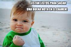 Examen - Success kid original meme (http://www.memegen.es/meme/ogzap4)