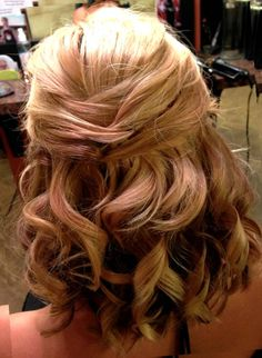 mother of bride hair half up - Google Search